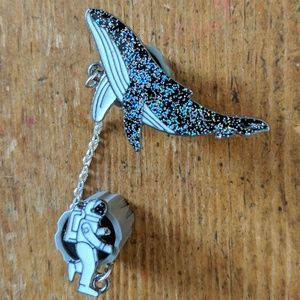 Accessories - Orca Whale and Astronaut Metal Enamel Pin NWOT